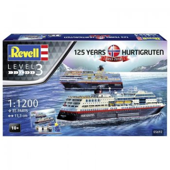 125 Years Hurtigruten 1893-2018 gift set, 1/1200