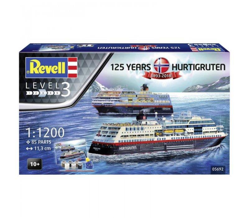 125 Years Hurtigruten 1893-2018 gift set, 1/1200