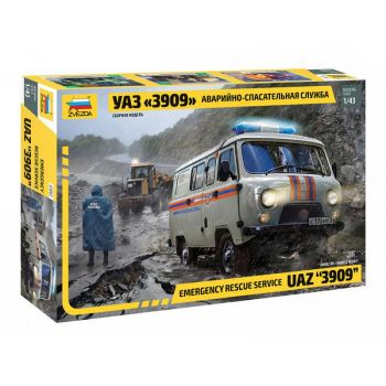Emergency rescue service UAZ 3909, 1/43