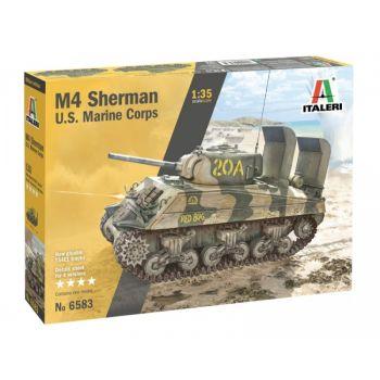 M4A2 Sherman US Marines Corps, 1/35   Italeri 6583